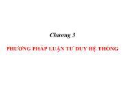 Chương 3 Phương pháp luận tư duy hệ thống