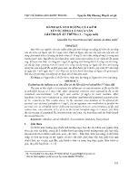 Đánh giá ảnh hưởng của kẽm lên sự sống cá ngựa vằn giai đoạn ấu trùng (1 - 7 ngày tuổi)