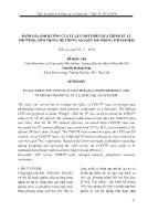 Đánh giá ảnh hưởng của tỷ lệ COD/TP đến quá trình xử lý photpho, nitơ trong hệ thống A2O quy mô phõng thí nghiệm