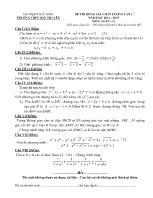 Đề thi khảo sát chất lượng lần 2 môn: Toán - 11