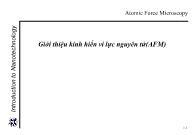 Giới thiệu kính hiển vi lực nguyên tử (AFM)