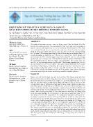Hiện trạng kỹ thuật của nghề nuôi cá lồng ở quần đảo Nam Du, huyện Kiên Hải, tỉnh Kiên Giang