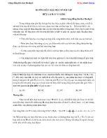 Hướng dẫn giải một số bài tập Hữu cơ hay và khó