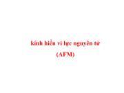 Kính hiển vi lực nguyên tử (AFM)