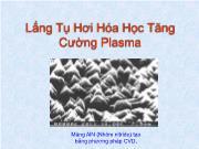 Lắng tụ hơi hóa học tăng cường plasma