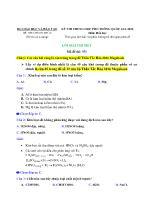 Lời giải chi tiết Đề thi trung học phố thông quốc gia 2016 môn: hóa học