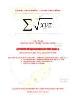 Lý thuyết sử dụng ẩn phụ căn thức (phần 4)