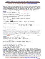 Một số bài tập tổng hợp hay và khó môn Hóa