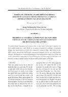 Nghiên cứu ảnh hưởng của điều kiện tổng hợp ZnO kích thước nano bằng phương pháp kết tủa cacbonat đến hoạt tính xúc tác quang hóa của nó
