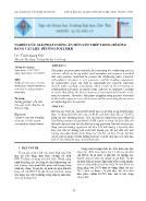 Nghiên cứu giải pháp chống ăn mòn cốt thép trong bêtông bằng vật liệu bêtông polymer