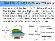 Nguyên lý hoạt động của PMT hữu cơ