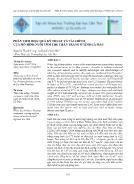 Phân tích hiệu quả kỹ thuật và tài chính của mô hình nuôi tôm thẻ chân trắng ở tỉnh Cà Mau