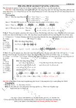 Phương pháp giải bài tập Sóng ánh sáng