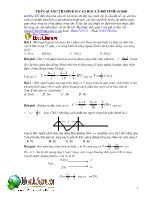 Phương pháp giải các bài tập điển hình của phần Sóng, giao thoa sóng và sóng dừng, sóng âm