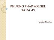 Phương pháp solgel TiO2-CdS