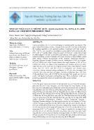 Sinh sản nhân tạo cá trê Phú Quốc (Clarias Gracilentus Ng, Hong & Tu, 2011) bằng các chất kích thích khác nhau
