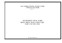 Sơ đồ phân tích nghề - Bảng phân tích công việc nghề: Móc thủ công