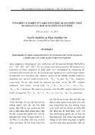 Tổng hợp và nghiên cứu khả năng phát quang phức chất picolinat của một số nguyên tố đất hiếm