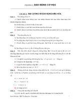 Trắc nghiệm Vật lý - Chủ đề: Đại cương về dao động điều hòa