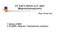 Từ thủy động lực học (magnetohydrodynamic)