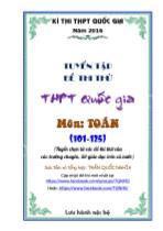 Tuyển tập đề thi thử THPT Quốc gia môn Toán (từ đề 101 - 125)