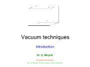 Vacuum techniques