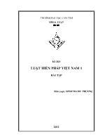 Luật hiến pháp Việt Nam - Bài tập