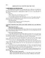 Luật thương mại - Bài 1: Khái quát luật thương mại Việt Nam