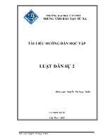 Tài liệu hướng dẫn học tập môn Luật dân sự 2