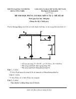 Đề thi học phần: Cơ học kết cấu 2 - Đề số: 01