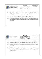 Đề thi môn học: Kiểm định cầu