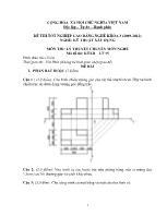 Đề thi tốt nghiệp cao đẳng nghề: Kỹ thuật xây dựng - Môn thi: Lý thuyết chuyên môn nghề - Mã đề thi: KTXD - LT 15