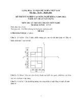 Đề thi tốt nghiệp cao đẳng nghề: Kỹ thuật xây dựng - Môn thi: Lý thuyết chuyên môn nghề - Mã đề thi: KTXD - LT12