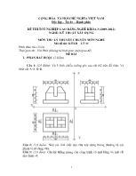 Đề thi tốt nghiệp cao đẳng nghề: Kỹ thuật xây dựng - Môn thi: Lý thuyết chuyên môn nghề - Mã đề thi: KTXD - LT 11
