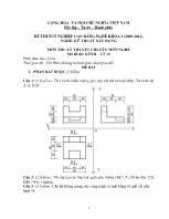 Đề thi tốt nghiệp cao đẳng nghề: Kỹ thuật xây dựng - Môn thi: Lý thuyết chuyên môn nghề - Mã đề thi: KTXD - LT 12