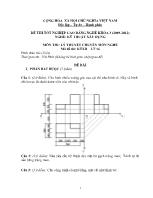Đề thi tốt nghiệp cao đẳng nghề: Kỹ thuật xây dựng - Môn thi: Lý thuyết chuyên môn nghề - Mã đề thi: KTXD - LT 16