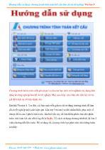 Hướng dẫn sử dụng chương trình tính toán kết cấu làm đồ án tốt nghiệp