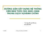 Hướng dẫn xây dựng hệ thống văn bản theo ISO 9001 : 2008 trong dịch vụ hành chính
