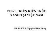 Kiến trúc - Xây dựng - Phát triển kiến trúc xanh tại Việt Nam