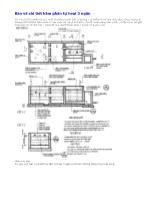 Vẽ kĩ thuật - Bản vẽ chi tiết hầm phân tự hoại 3 ngăn