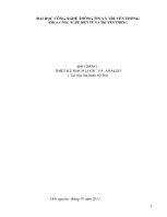 Bài giảng Thiết kế mạch logic và analog