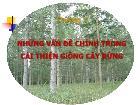Nông - Lâm - Ngư nghiệp - Chương 1: Những vấn đề chính trong cải thiện giống cây rừng