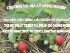 Nông - Lâm - Ngư nghiệp - Chương VII: Địa lý nông nghiệp