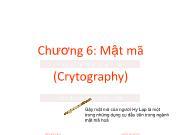 Bài giảng An ninh mạng - Chương 6: Mật mã - Trương Minh Tuấn