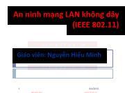 Bài giảng An ninh mạng LAN không dây - Nguyễn Hiếu Minh