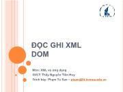 Bài giảng Đọc ghi XML DOM