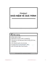 Bài giảng Hệ điều hành - Chương 2: Khái niệm về quá trình - Thoại Nam