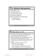 Bài giảng Hệ điều hành - Chương 6: Memory Management - Thoại Nam