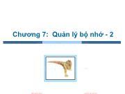 Bài giảng Hệ điều hành - Chương 7: Quản lý bộ nhớ (Phần 2) - Trần Thị Như Nguyệt