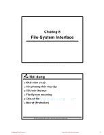 Bài giảng Hệ điều hành - Chương 8: File-System Interface - Thoại Nam